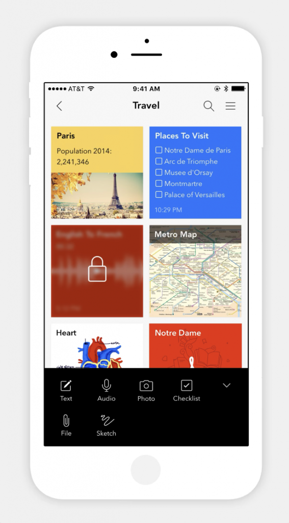 notes mobile app