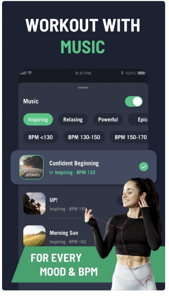 music fitness app