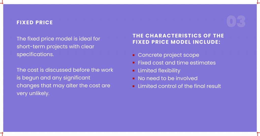 Fixed price engagement model